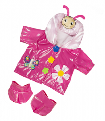 Pink Butterfly Raincoat with Boots